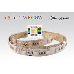 LED strip RGB + CCT, 2700-6000 °K, 24 V, 24 W/m, IP20, 5050