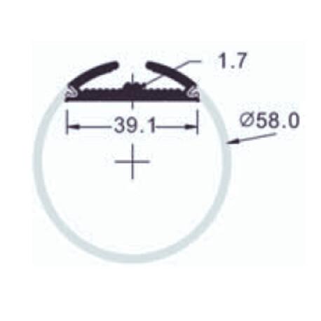 LED profiili G011 ristlõige