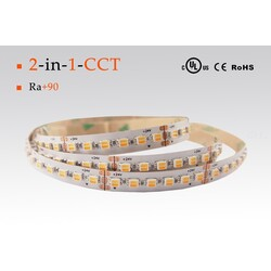 LED strip CCT, 2500-6000 °K, 24 V, 23 W/m, IP67, 3528
