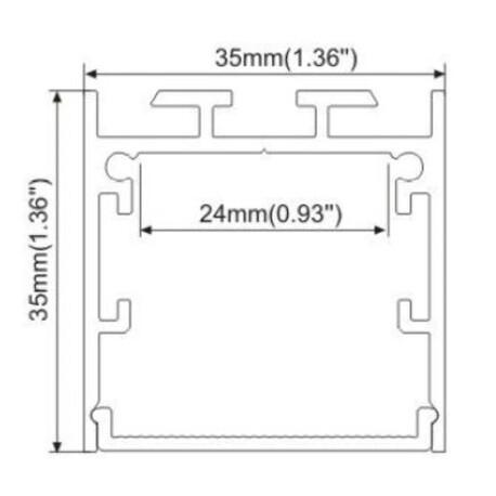 End cap for LED profile A019