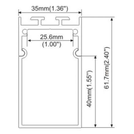 End cap for LED profile A041