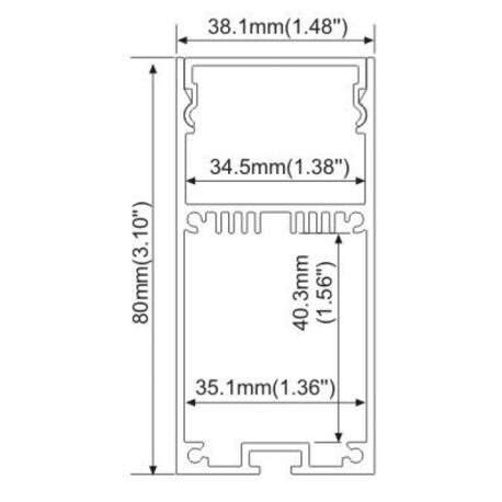 End cap for LED profile A063