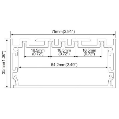 Fixing clip for LED profile A018