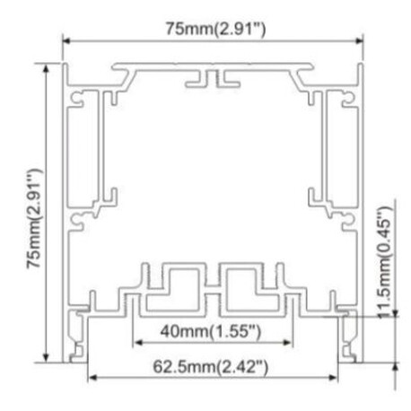 End cap for LED profile A034