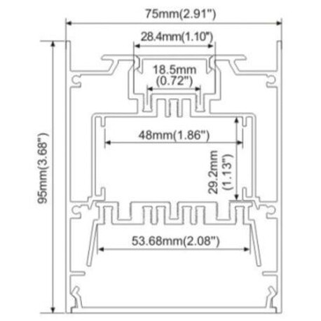 Fixing clip for LED profile A060