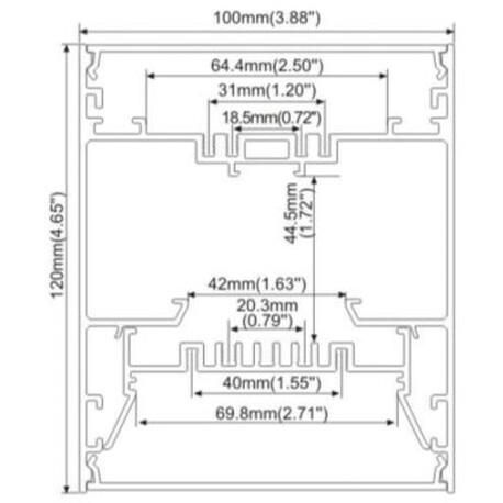 End cap for LED profile A071