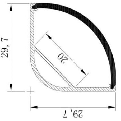 End cap for LED profile A101