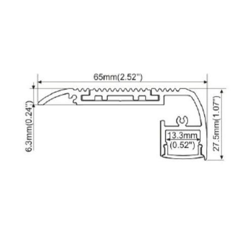End cap for LED profile A113