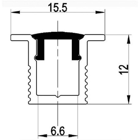 End cap for LED profile B006