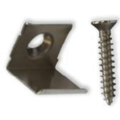 LED profile D002 fixing clip, metal