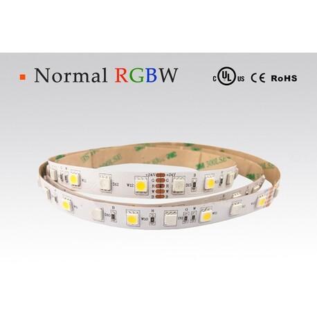 LED riba RGBW, soe valge, 2700 °K, 12 V, 14.4 W/m, IP68, 5050