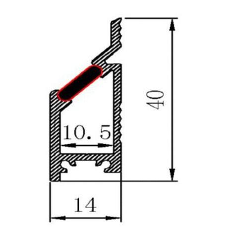 LED profiili A022 ristlõige