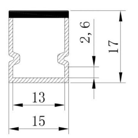 LED profiili A024 ristlõige