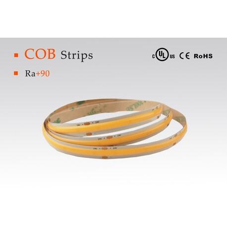 LED riba soe valge, 2700 °K, 24 V, 10 W/m, IP67, 603 COB, 850 lm/m, CRI 90