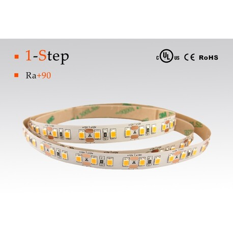 LED strip warm white, 3000 °K, 24 V, 14.4 W/m, IP20, 2835, 1100 lm/m, CRI 90