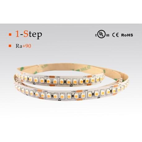 LED strip warm white, 2700 °K, 24 V, 4.8 W/m, IP67, 3528, 410 lm/m, CRI 90