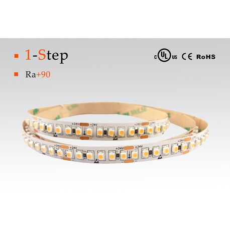 LED strip nature white, 4000 °K, 24 V, 19.2 W/m, IP20, 3528, 1750 lm/m, CRI 90